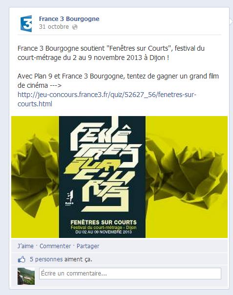France 3, Fenêtres sur Courts 2013