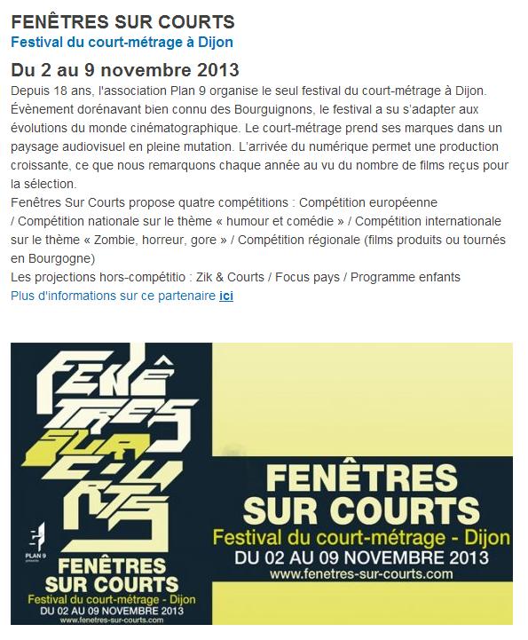 France 3, Fenêtre sur Courts 2013